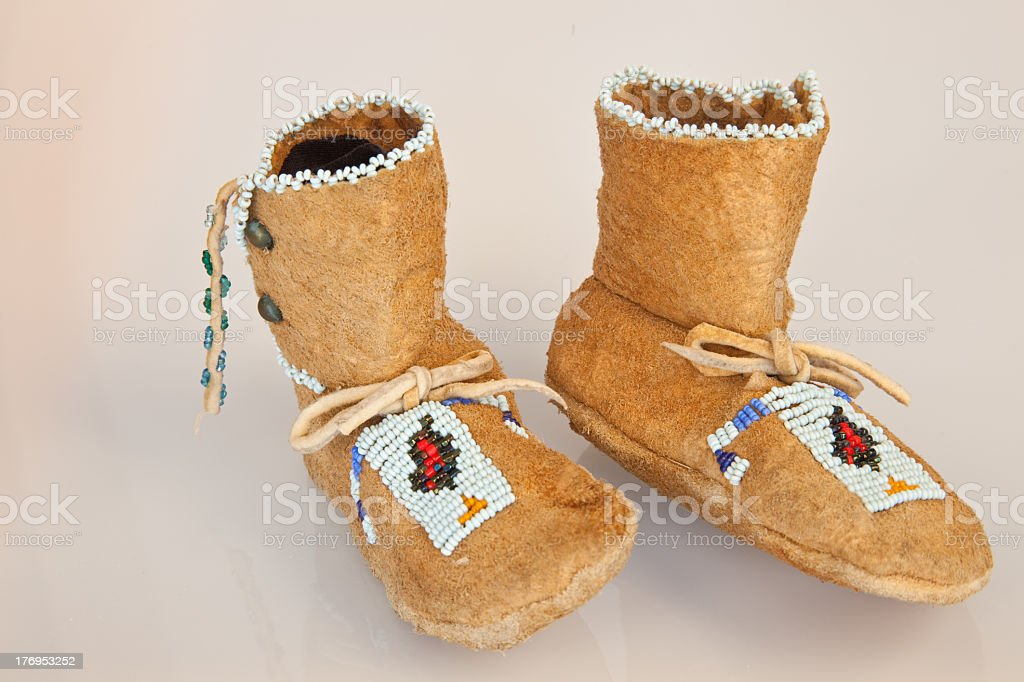 Baby Indian Mocassins stock photo