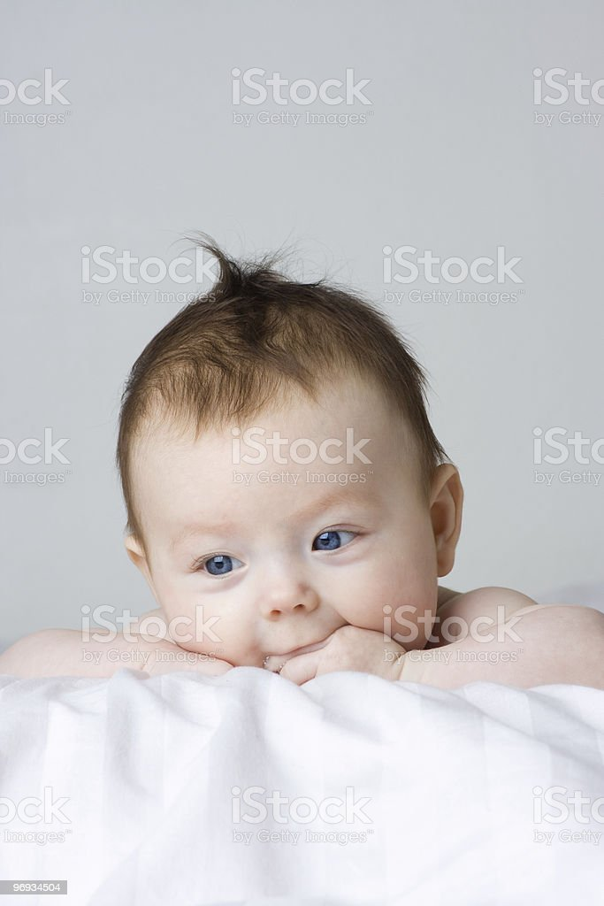 Baby infant girl royalty-free stock photo