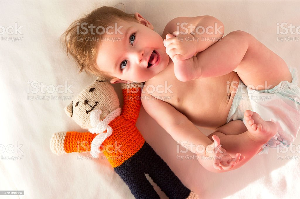 Baby Is Awake stock photo