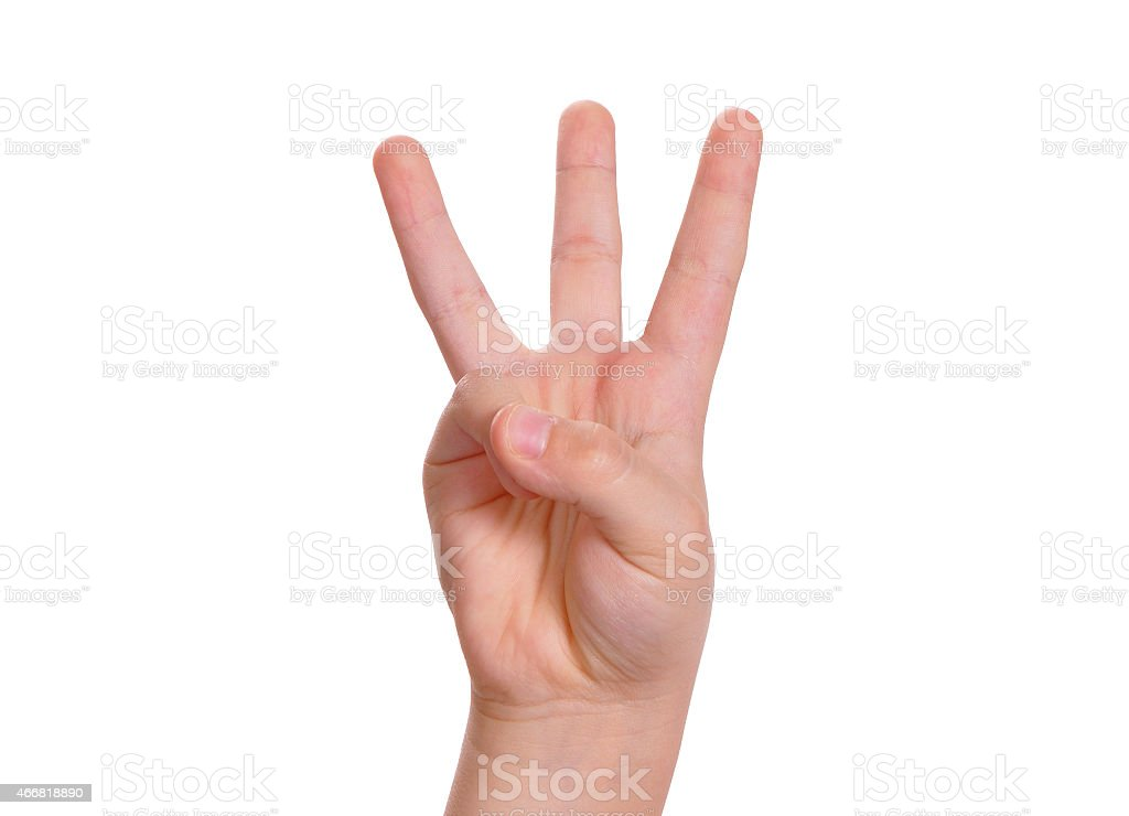 Baby is counting by fingers stock photo