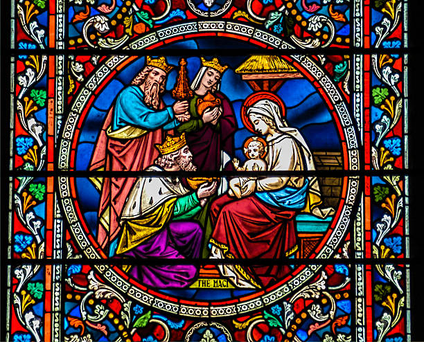 Baby Jesus with Mary and the three wise kings – Foto