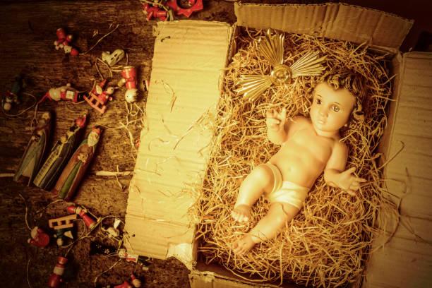 嬰兒耶穌聖誕裝飾 - 大比大 聖經人物 個照片及圖片檔