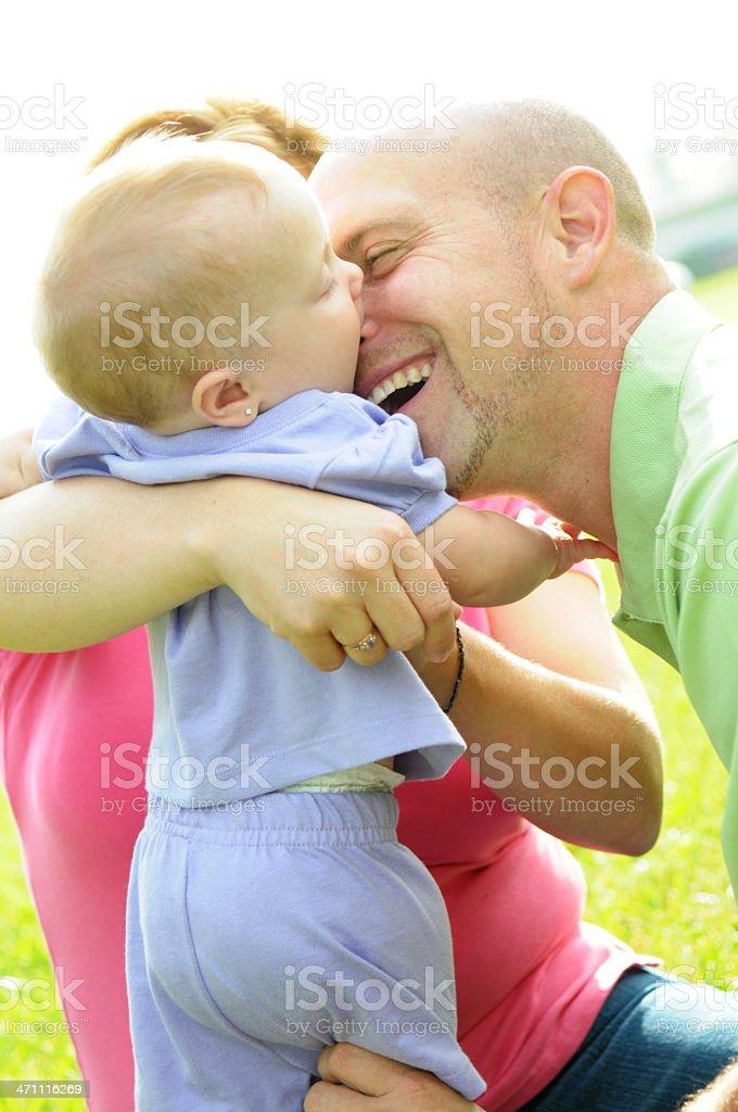 Baby Kisses royalty-free stock photo