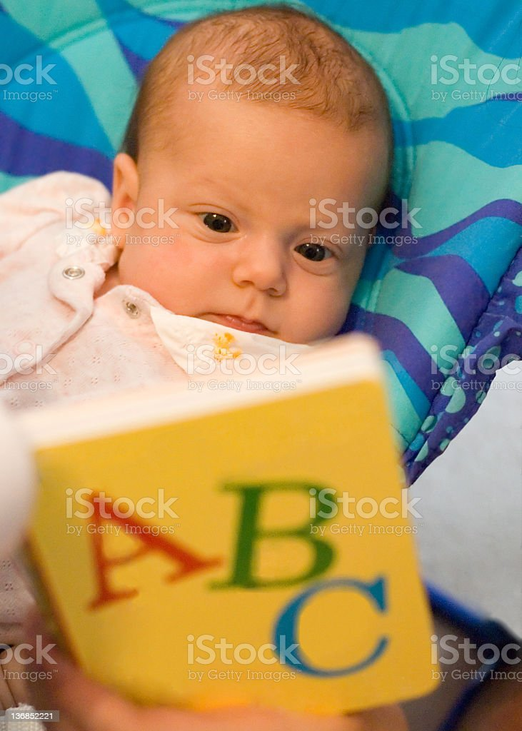Baby Learning ABCs royalty-free stock photo