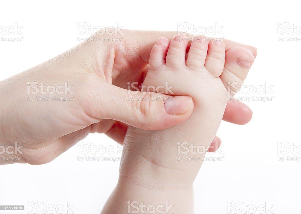 Baby massage royalty-free stock photo