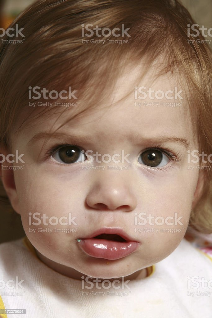 Baby Means Business! royalty-free stock photo