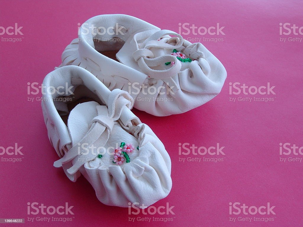 Baby Moccasins stock photo