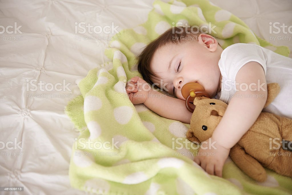 Baby needs his sleep! stock photo