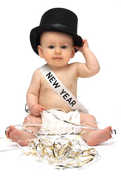 Baby New Year stock photo