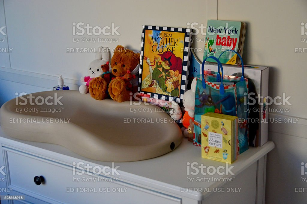 Baby Nursery or children room stock photo