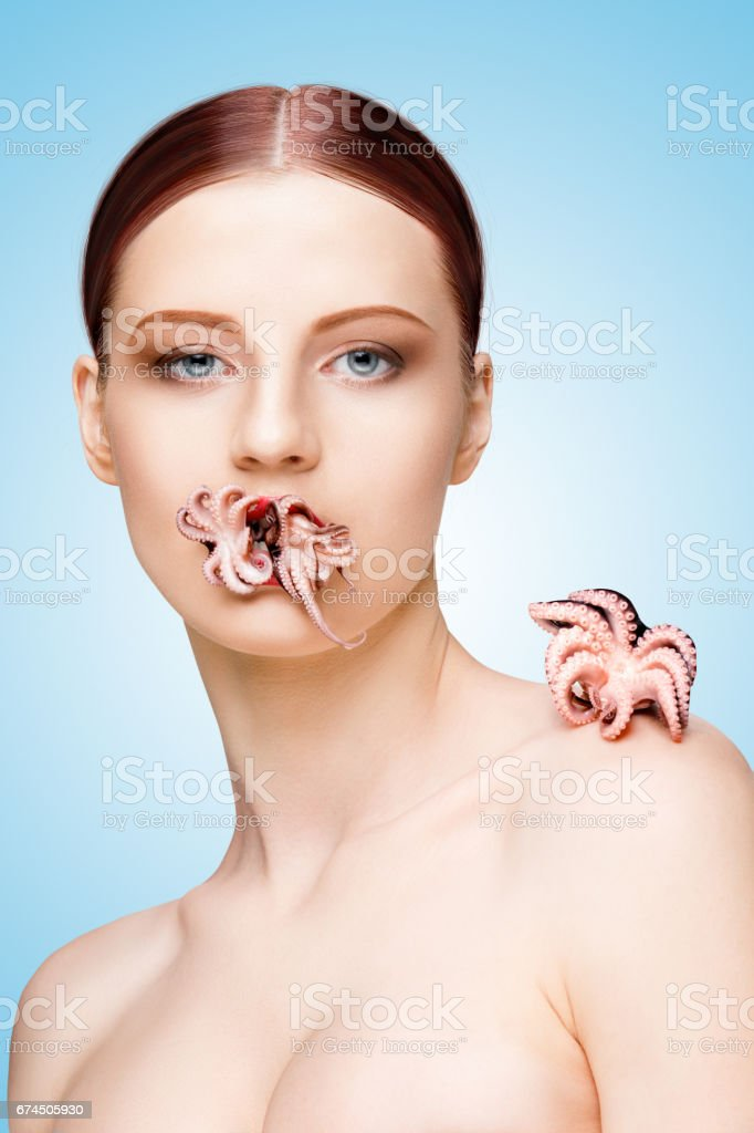 Baby octopus. stock photo