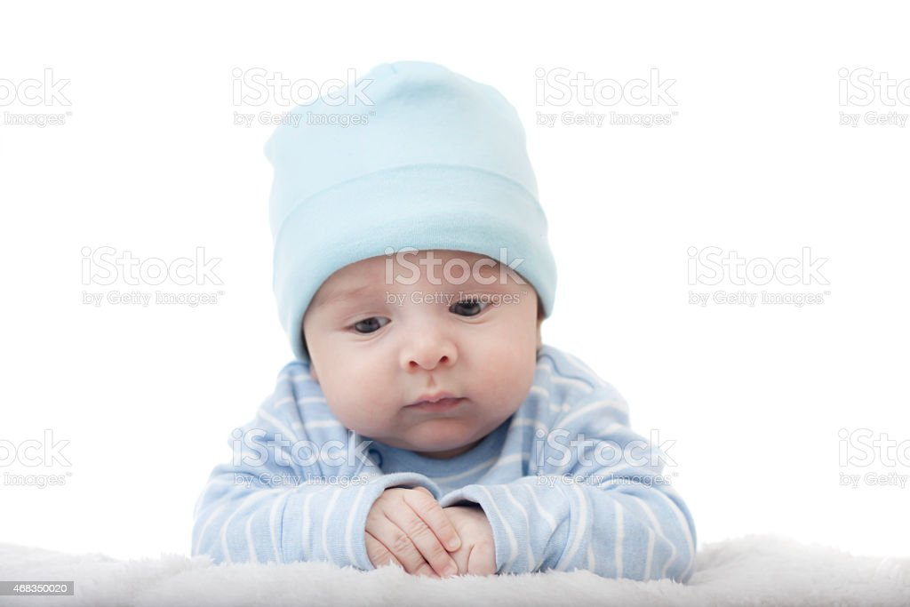 baby on a white background royalty-free stock photo