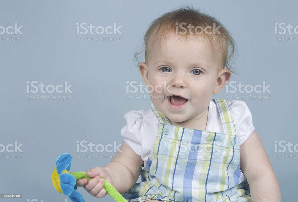 Baby on Blue royalty-free stock photo