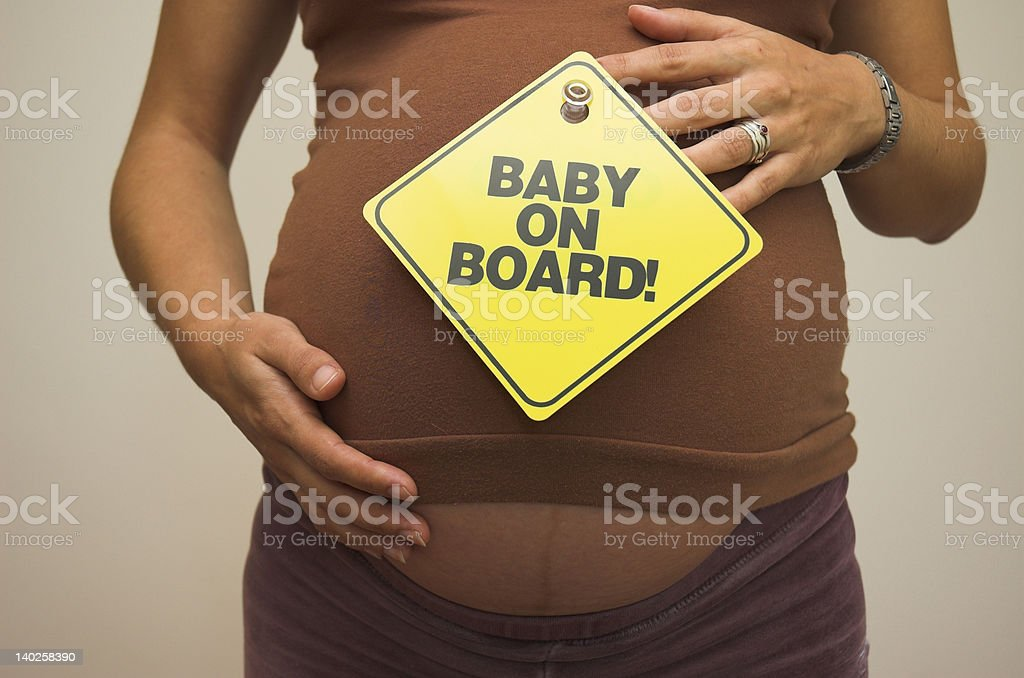 Baby on Board! royalty-free stock photo
