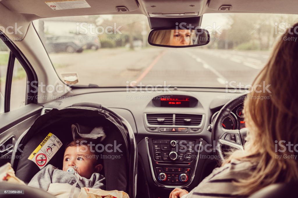 Baby on board stock photo