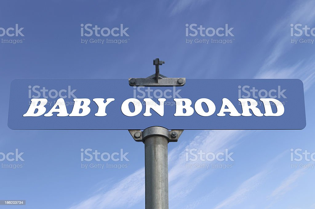 Baby on board road sign stock photo