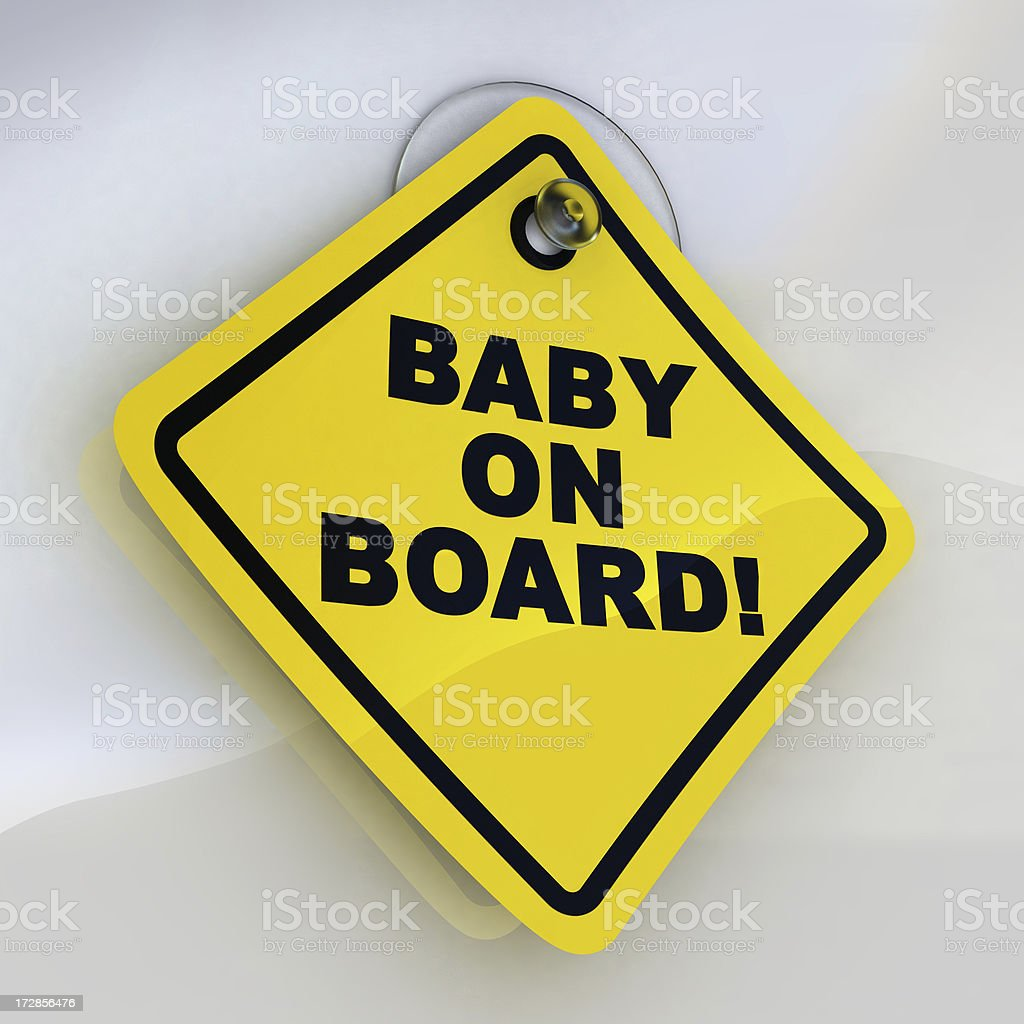 baby on board sign stock photo