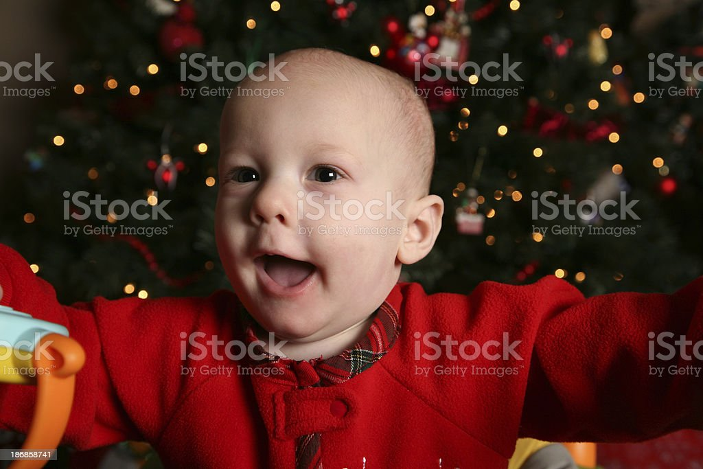 Baby On Christmas stock photo