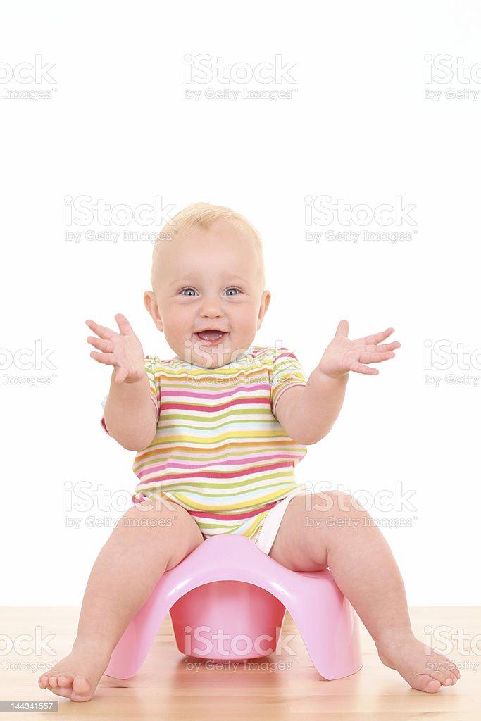 El orinal de niño bebé - foto de stock