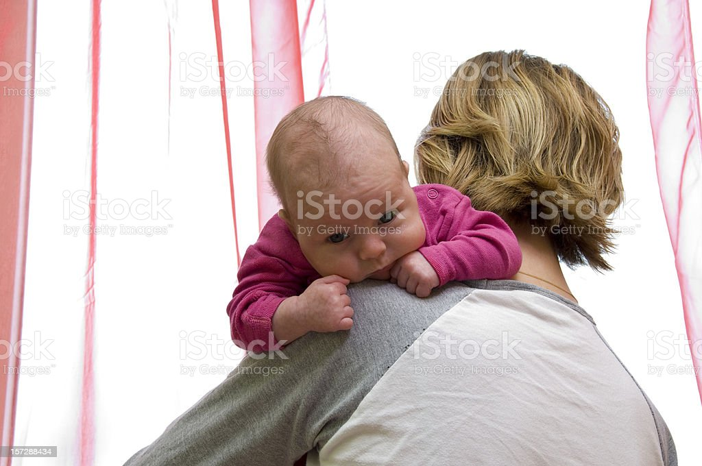 baby on shoulder royalty-free stock photo