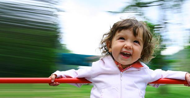 Bambino sul Carosello - foto stock