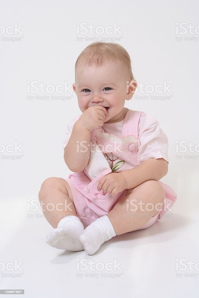 Baby on the white background royalty-free stock photo
