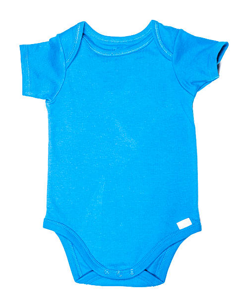 Baby onesie-Blue stock photo