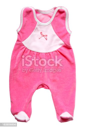 Close-up of a newborn baby costume isolated on white
