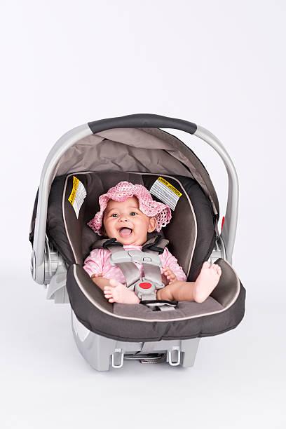 Baby passenger safety. stock photo