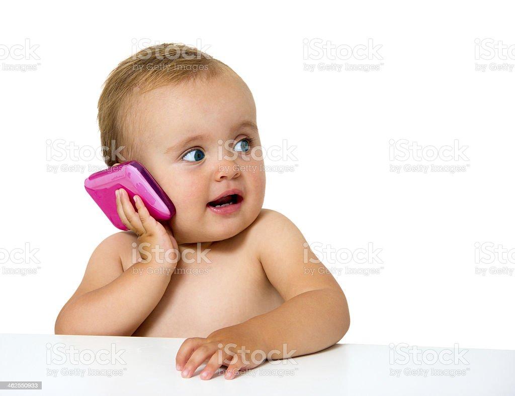 baby phone stock photo