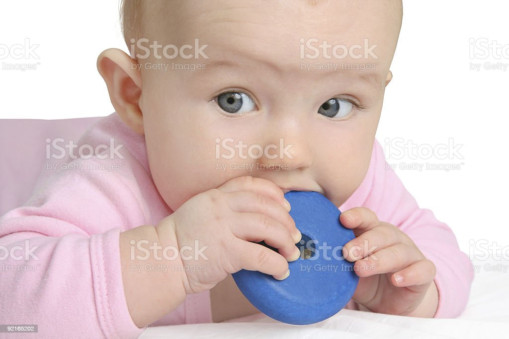 baby (girl 5 month) stock photo