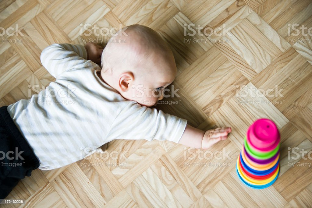Baby Playing and Learning stock photo