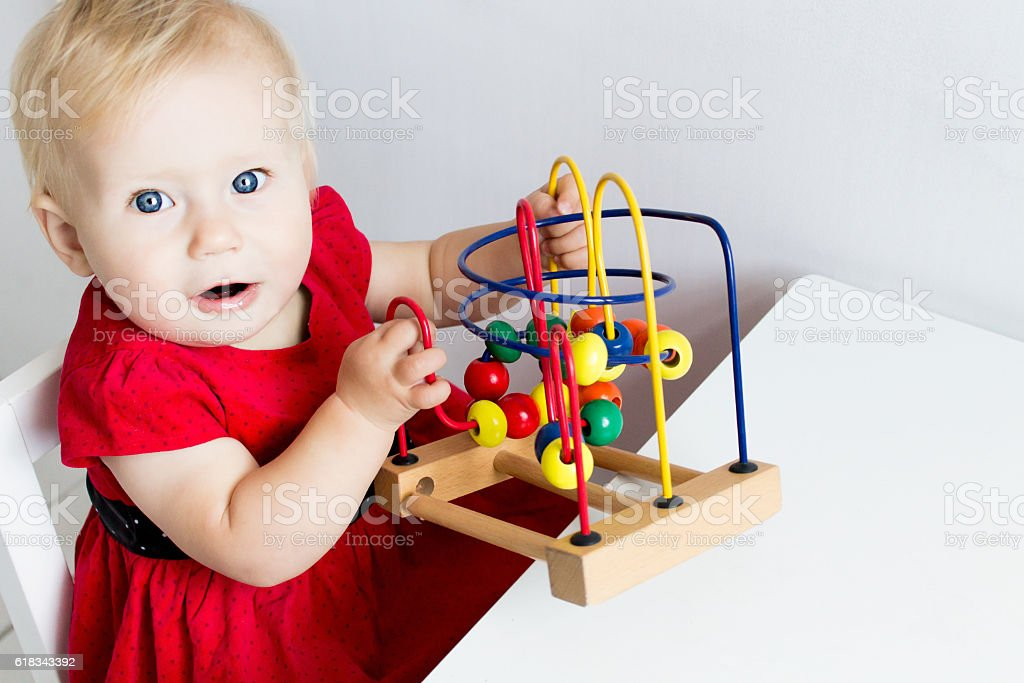 Baby Playing stock photo