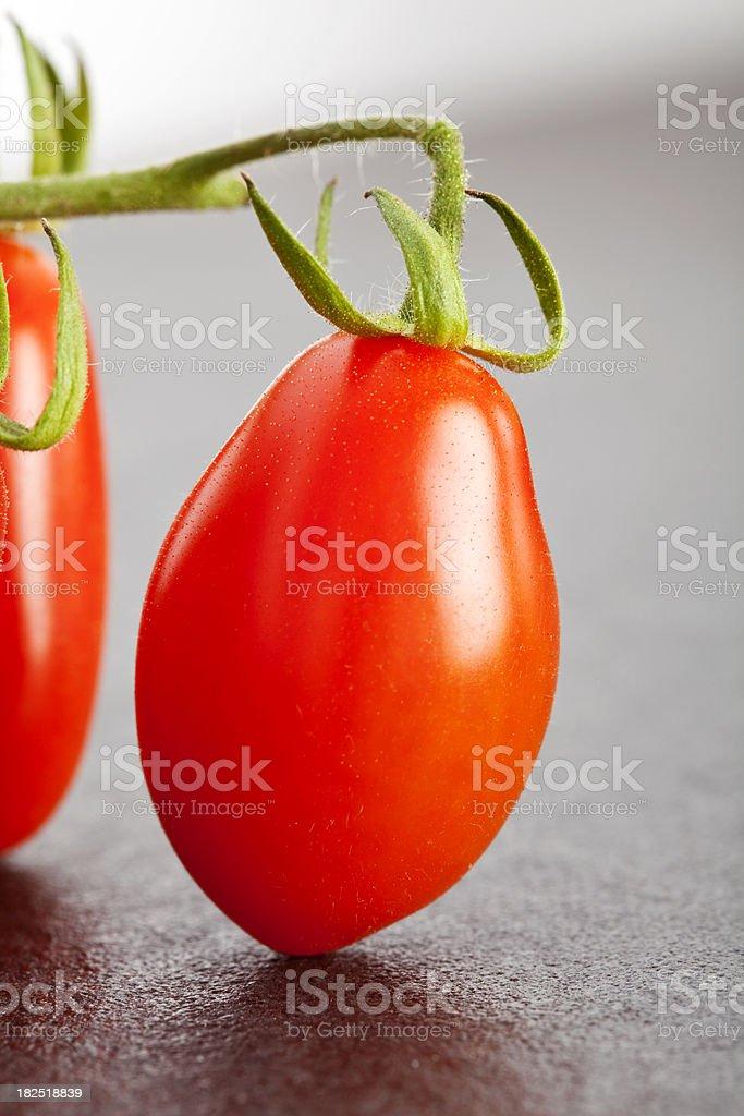 Baby Plum Tomatos stock photo