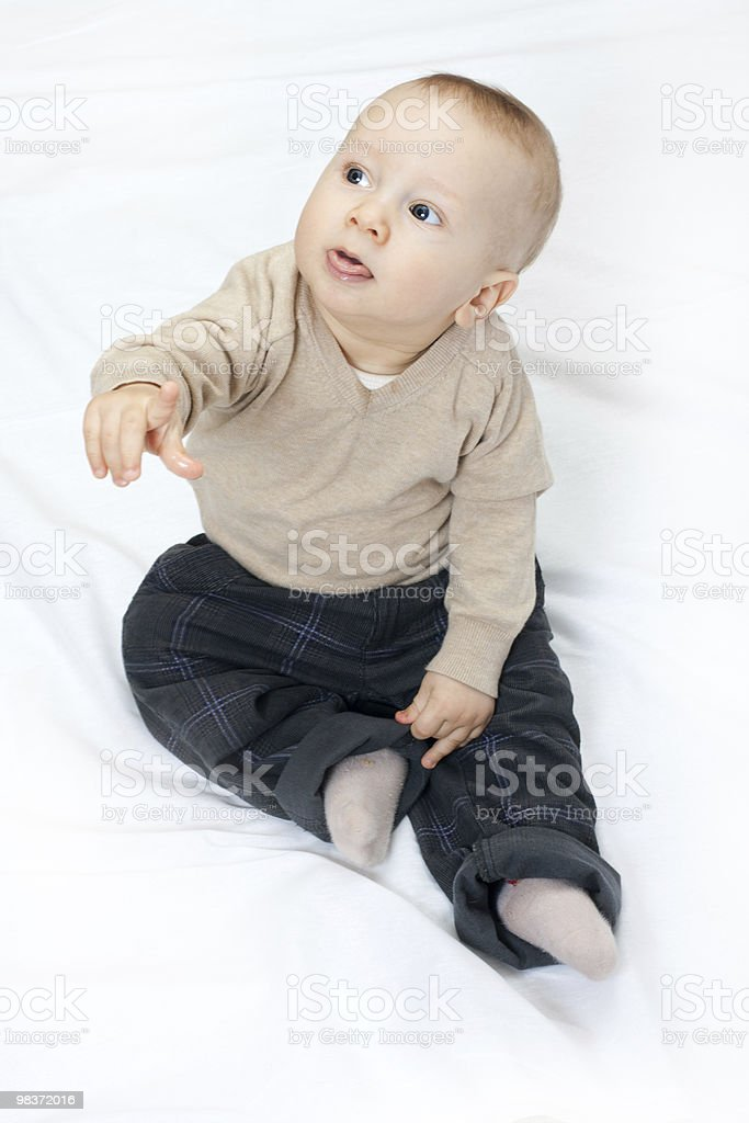 baby portrait on white royalty-free stock photo