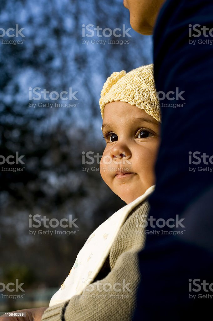 Baby Portrait Outdoors royalty-free stock photo