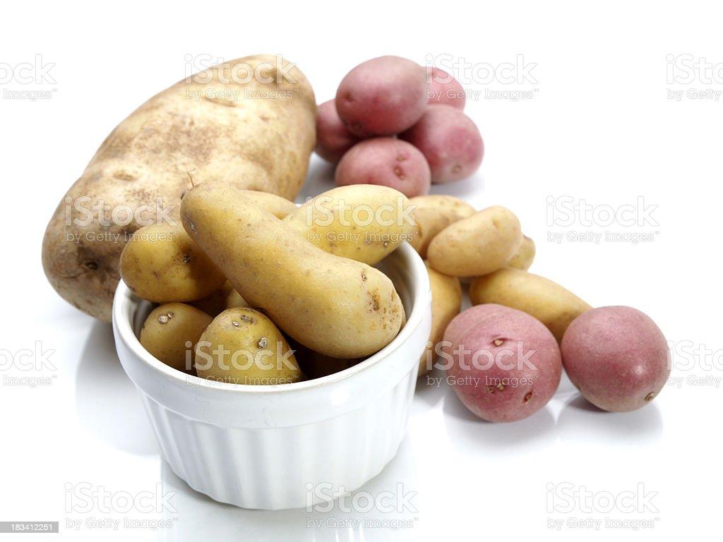 baby potatoes and baking potato royalty-free stock photo