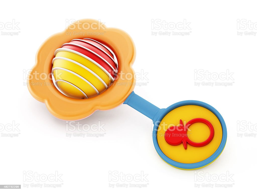 Baby rattle stock photo
