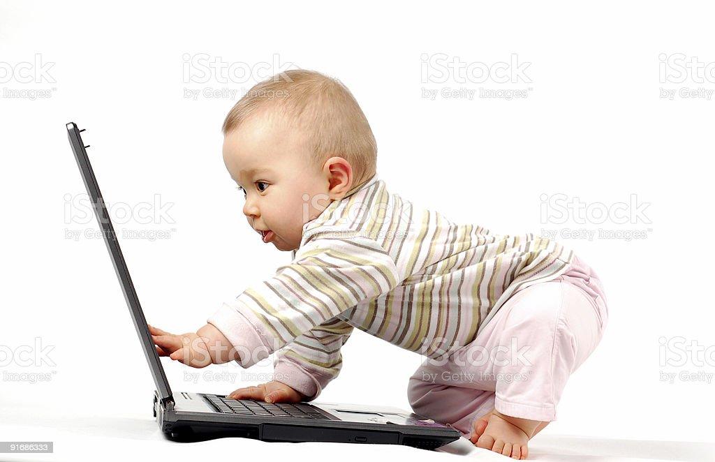 Glückliches Kind mit laptop#13 – Foto