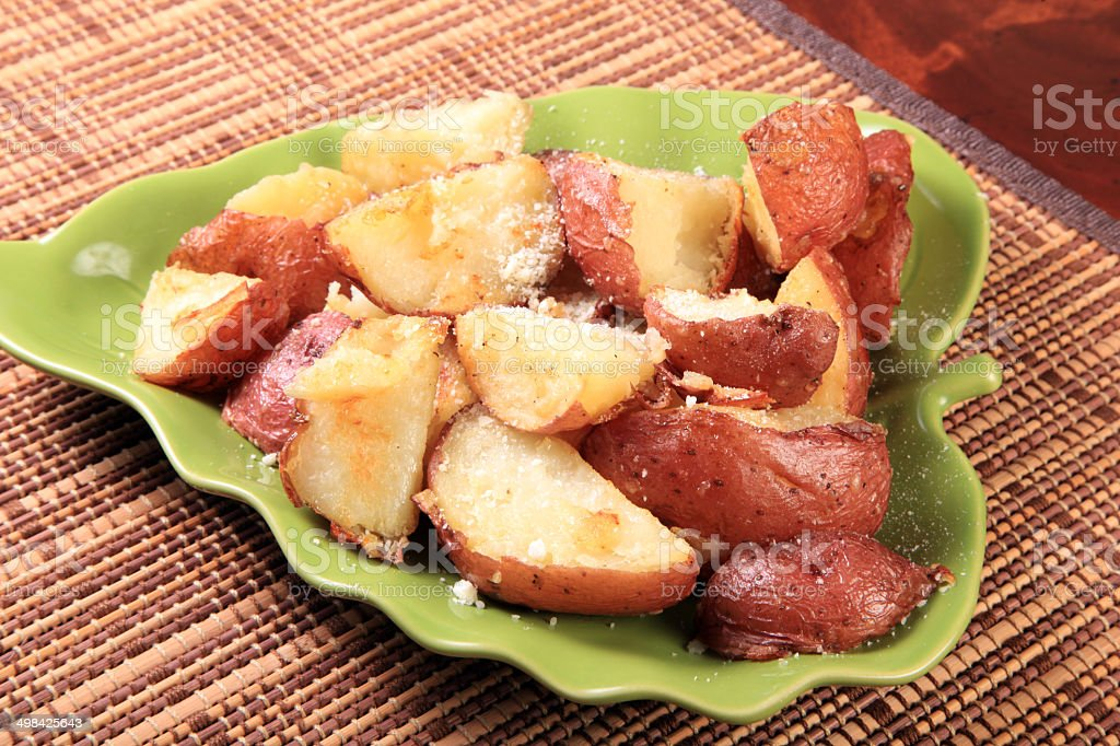 Baby Red Potatoes that are Roasted stock photo