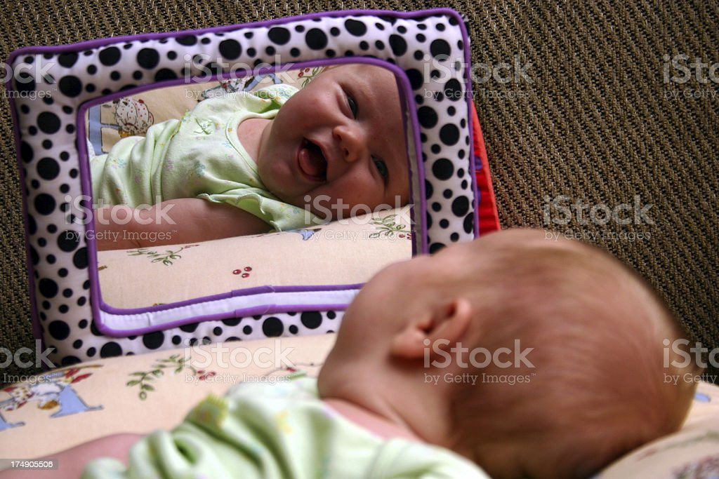 Baby Reflection royalty-free stock photo