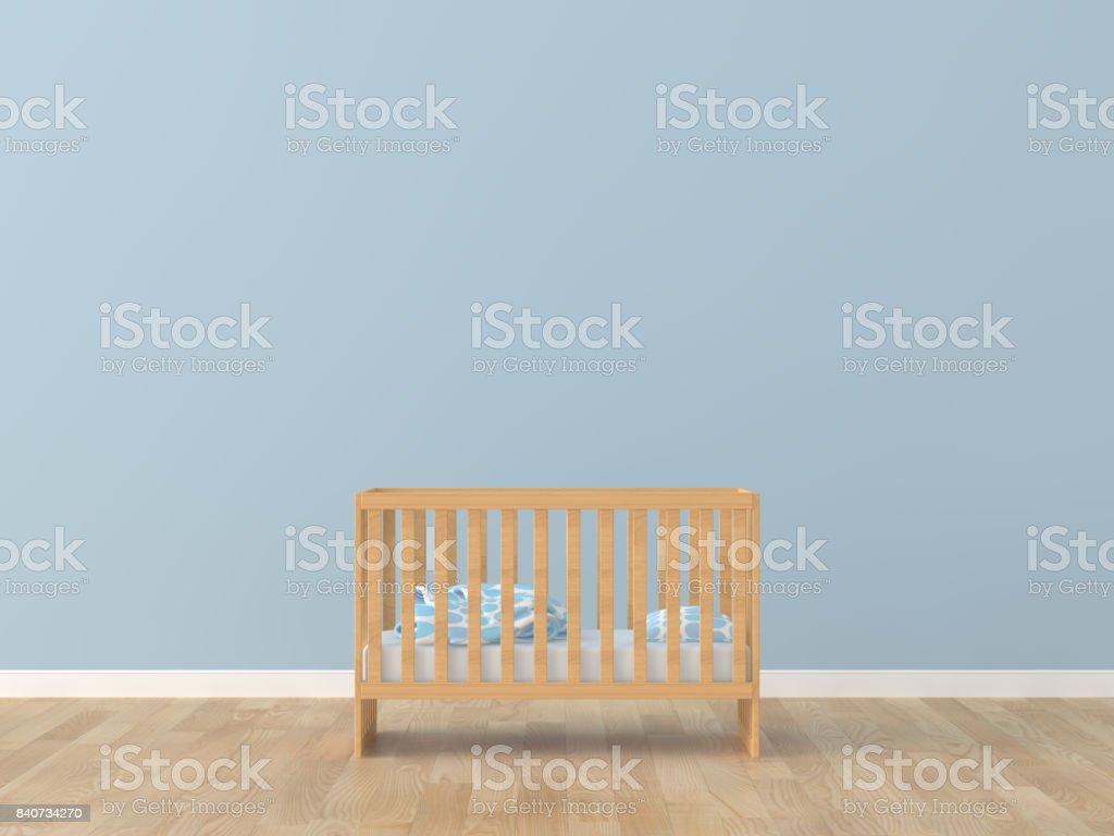 Bebê quarto cama quarto processamento imagem 3d - foto de acervo