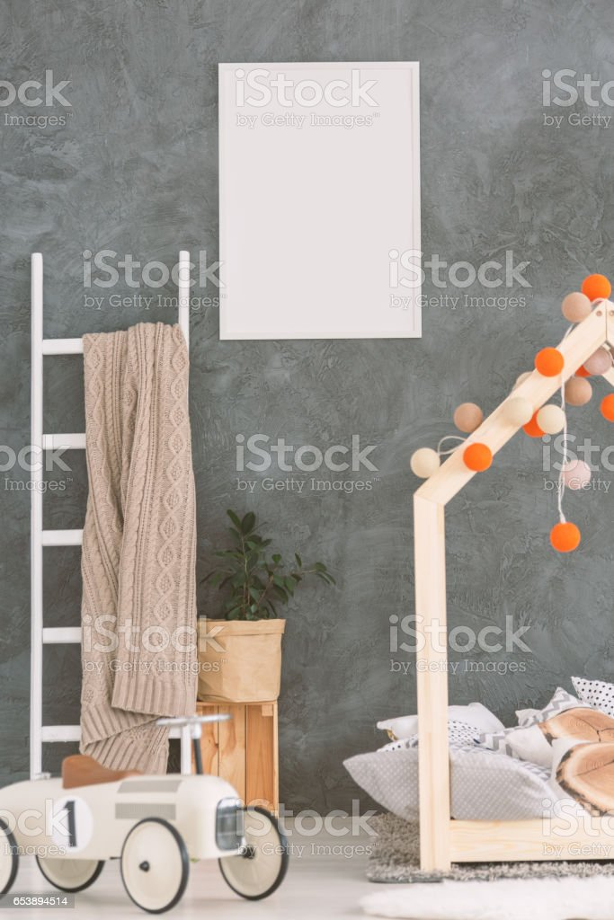 Baby room in scandi style stock photo