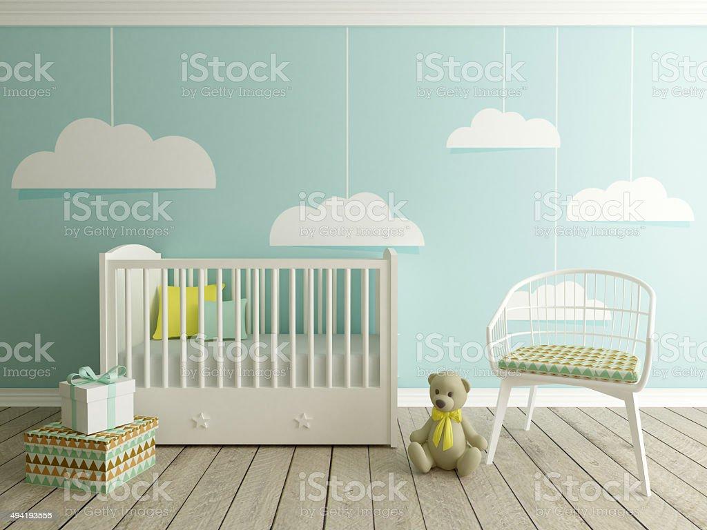 Quarto de bebê, berçário interior - foto de acervo