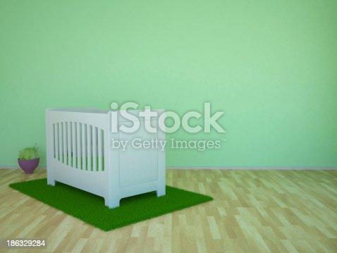 1213866189 istock photo Baby room 186329284