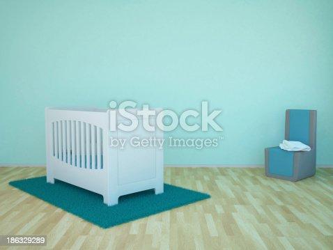 1213866189 istock photo Baby room 186329289