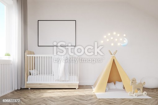 istock Baby room with a moon 636822372
