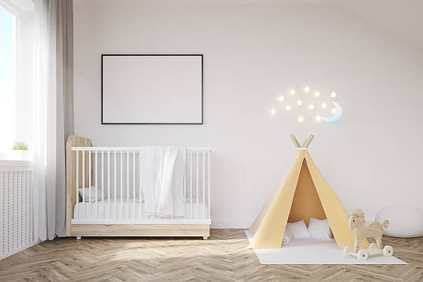Baby room with a moon – Foto