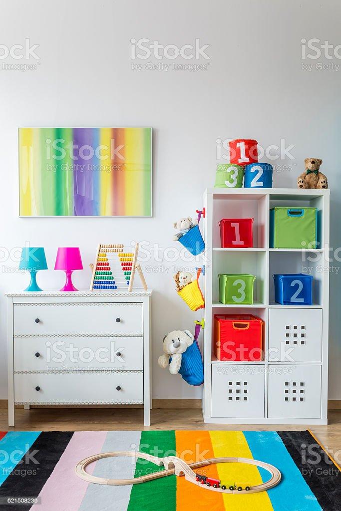 Baby room with toys Lizenzfreies stock-foto