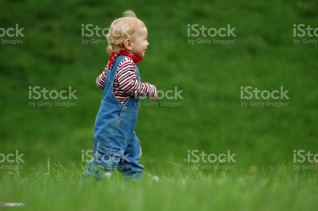 baby run royalty-free stock photo